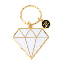 These Are Things Enamel Keychain - Diamond