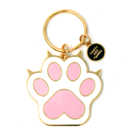 These Are Things Enamel Keychain - Cat Paw