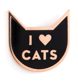 Enamel Pin - I heart Cats