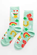 Socks: Lucky Cat & Clover