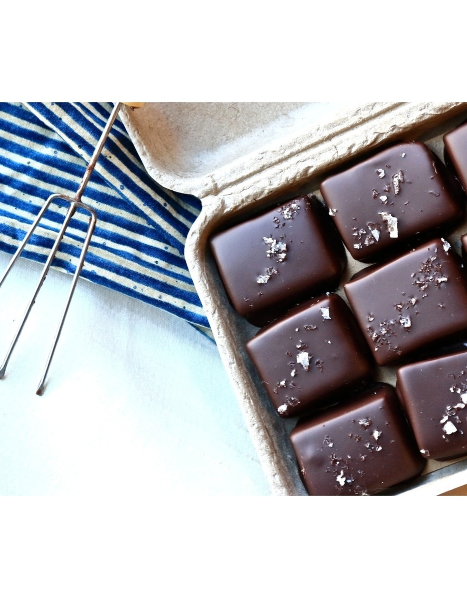 9 piece Dark Chocolate Covered Salted Caramel