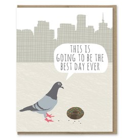 Card - Birthday: Pigeon Donut