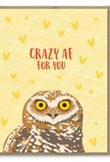 Card - Blank: Crazy AF Owl