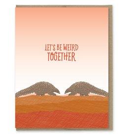 Card - Love: Weird together Pangolins