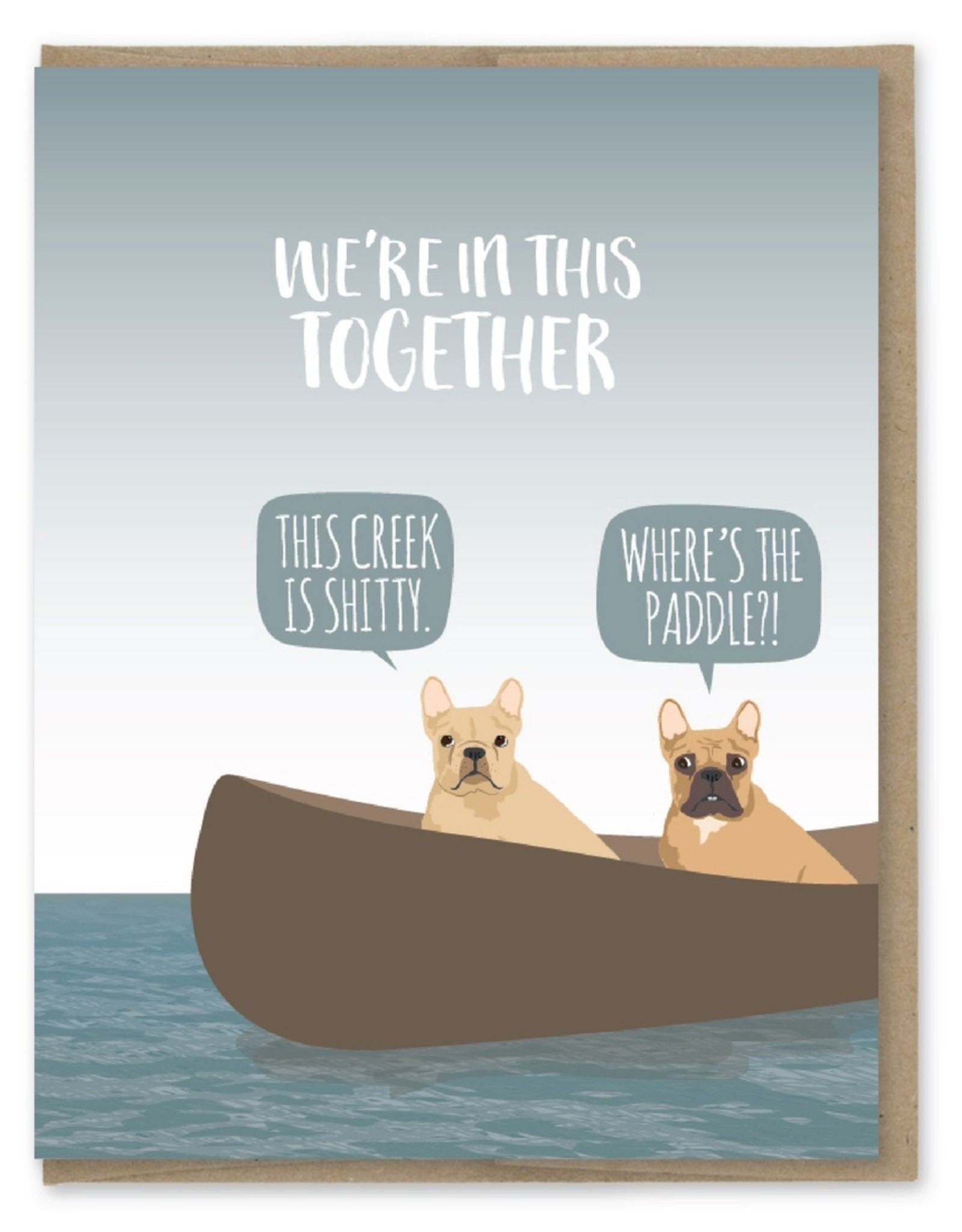 Modern Printed Matter Card - Love: In this together