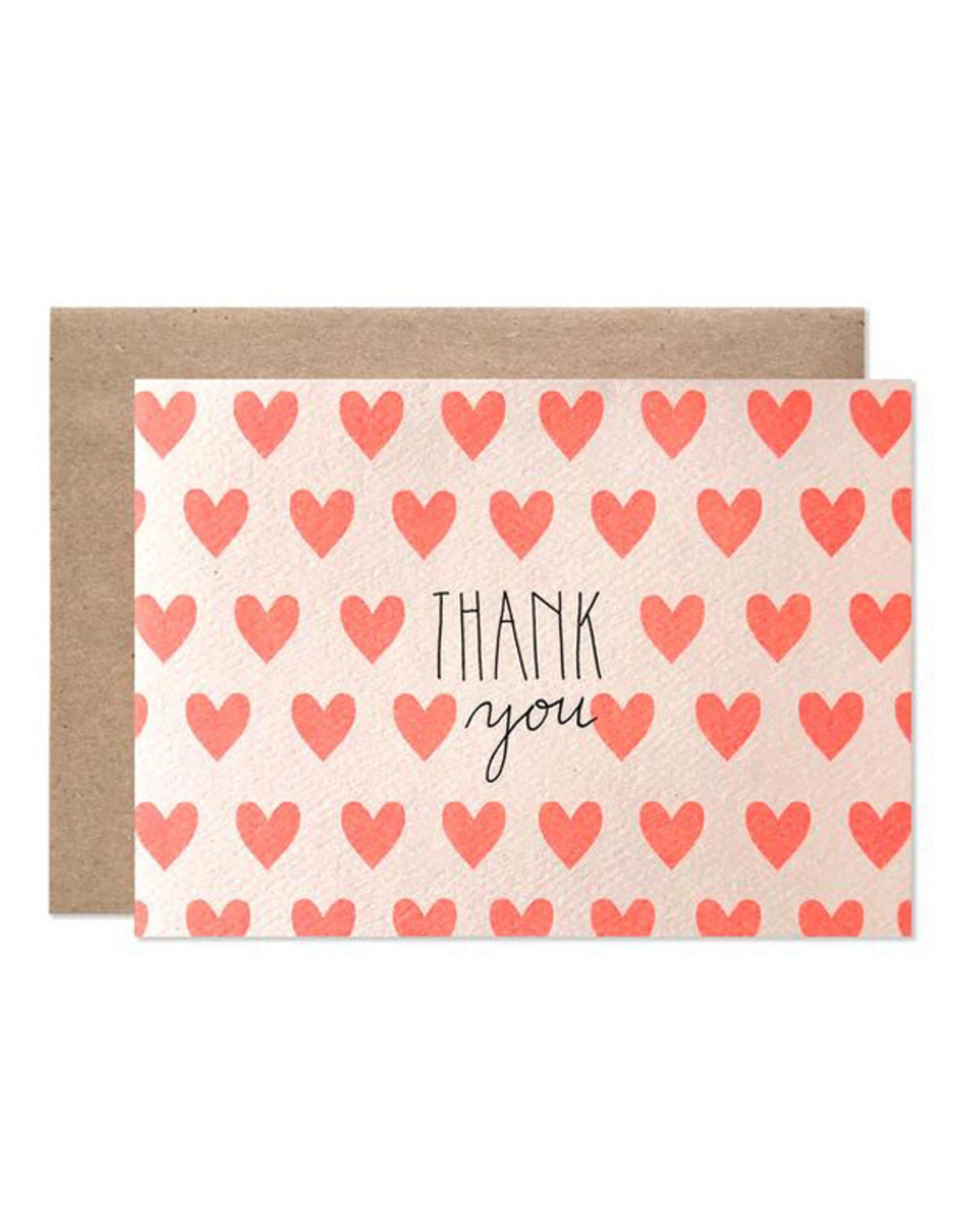 Hartland Brooklyn Boxed Cards - Thank You Neon Hearts (8)