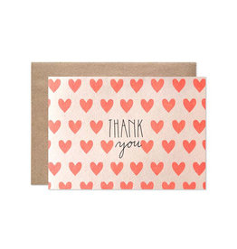 Hartland Brooklyn Boxed Cards - Thank You Neon Hearts (8)
