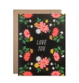 Card - Love: Love you flowers