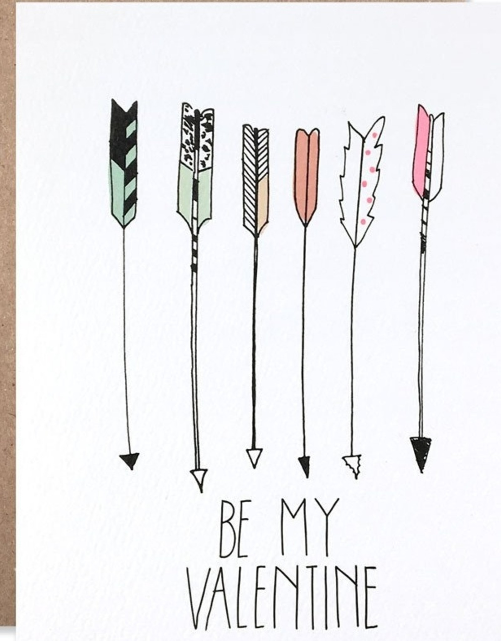 Hartland Brooklyn Card - Love: Be my valentine arrows