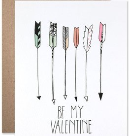Hartland Brooklyn Card - Love: Be my valentine arrows