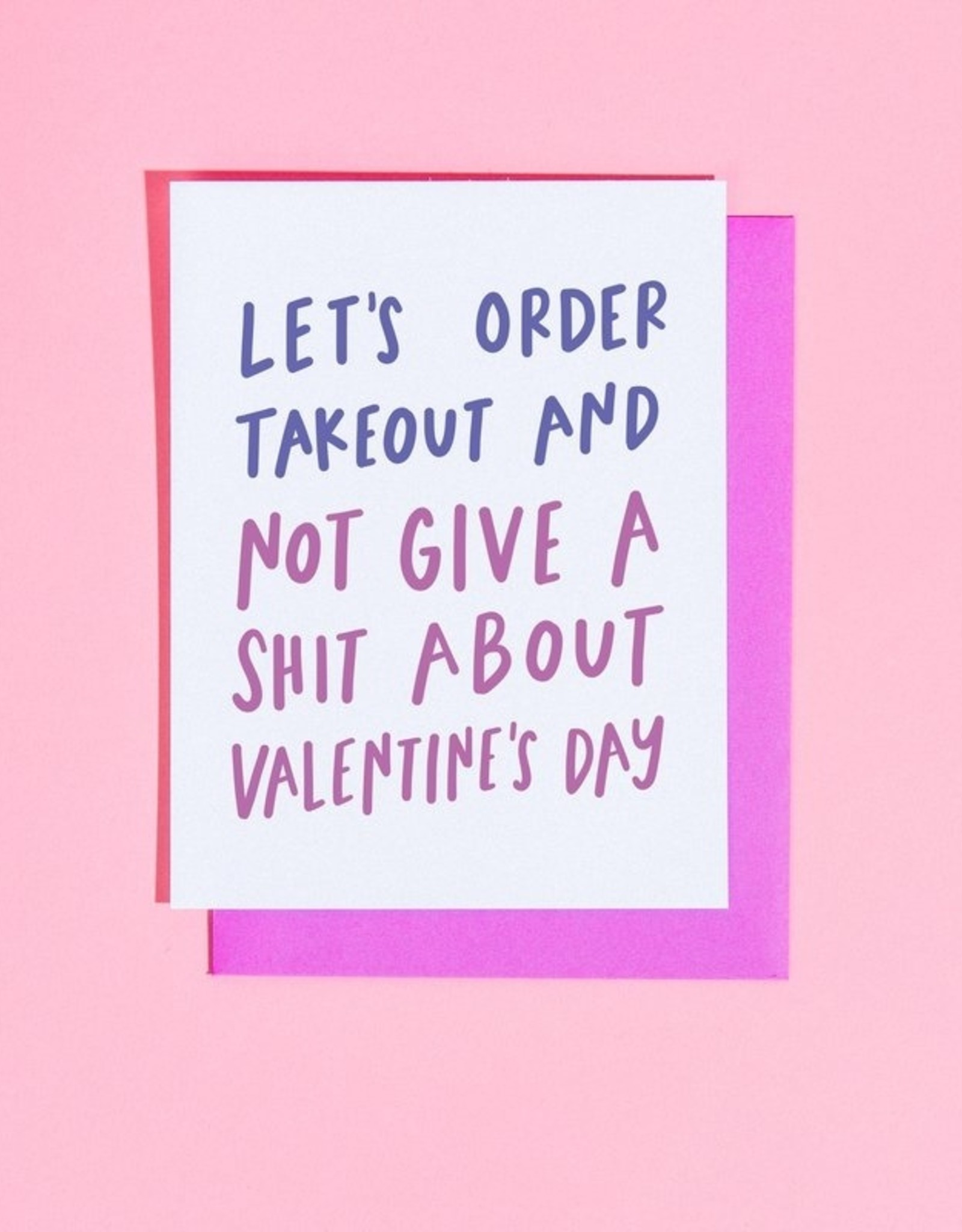 Craft Boner Card - Love: Order takeout and not give a shit
