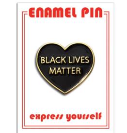 Enamel Pin - BLM heart