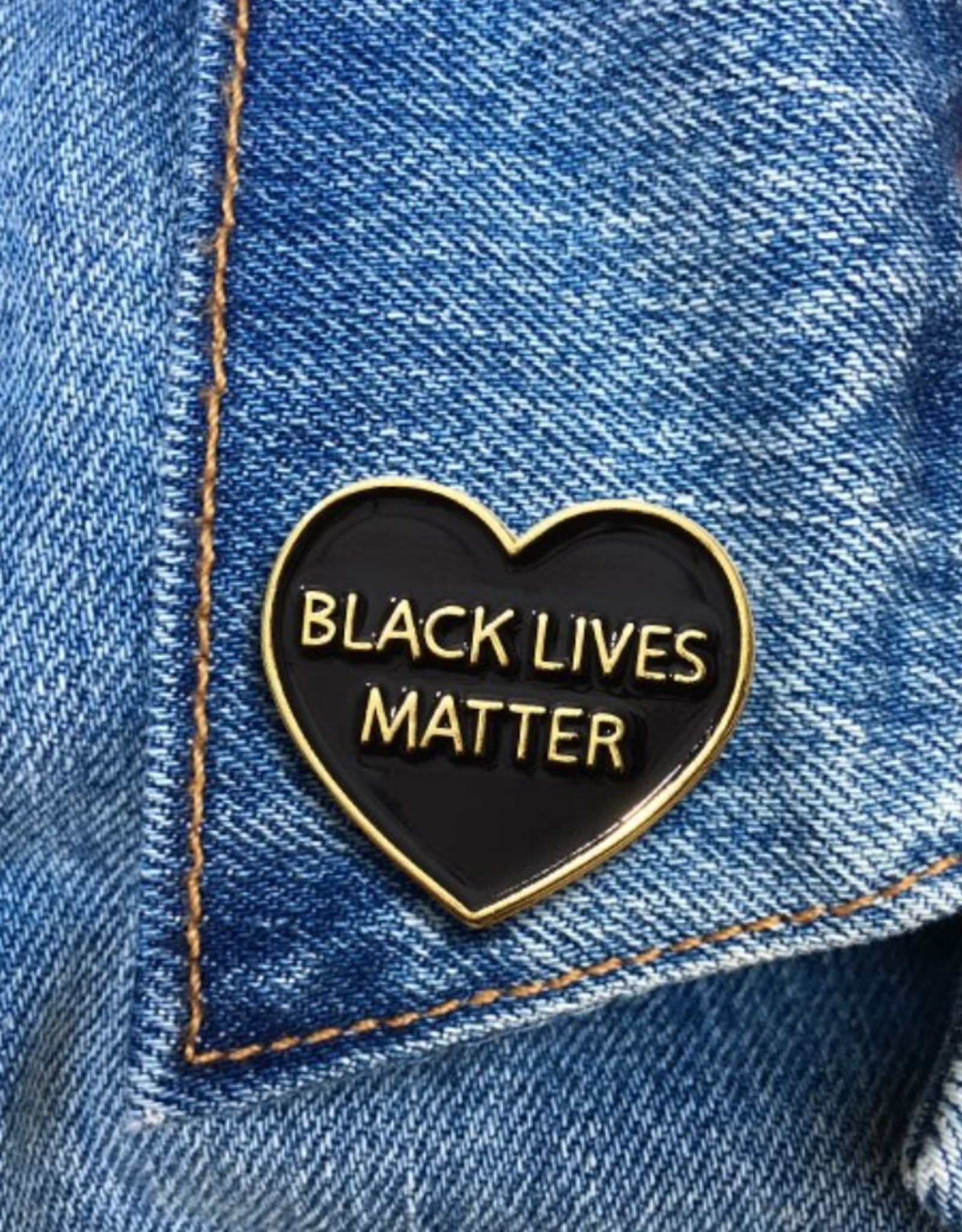 The Found Enamel Pin - BLM heart
