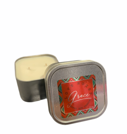 Love Notes LLC Candle: Grace Chrome Square Tins