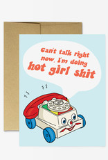 Party Mountain Paper Card - Blank: Hot girl shit phone