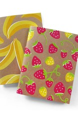 Neighborgoods Notebooks - set of 2 banana and strawberry