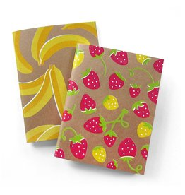 Neighborgoods Notebooks - set of 2 banana and strawberry