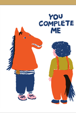 Egg Press Manufacturing Card - Love: You complete me horse