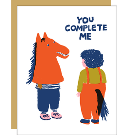 Card - Love: You complete me horse