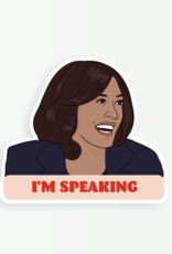 Party Mountain Paper Sticker: Kamala I'm speaking