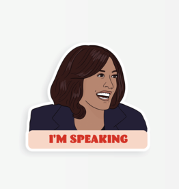 Party Mountain Paper Sticker: Kamala I'm speaking