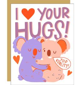 Card - Love: I love your hugs