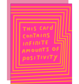 Egg Press Manufacturing Card - Blank: Infinite amounts of positivity