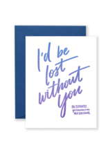 Lionheart Prints Card - Love: Lost without you