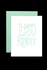 Lionheart Prints Card - Thank you: Kindly