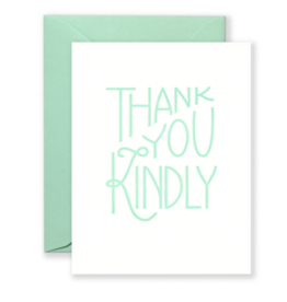 Lionheart Prints Card - Thank you: Kindly