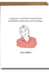 The Card Bureau Card - Birthday: Clinton Baking Cookies