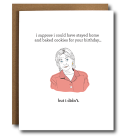 The Card Bureau Card - Birthday: Clinton Baking Cookies
