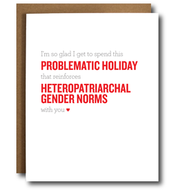 Card - Love: problematic holiday