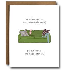 Card - Love: Put on PJ's