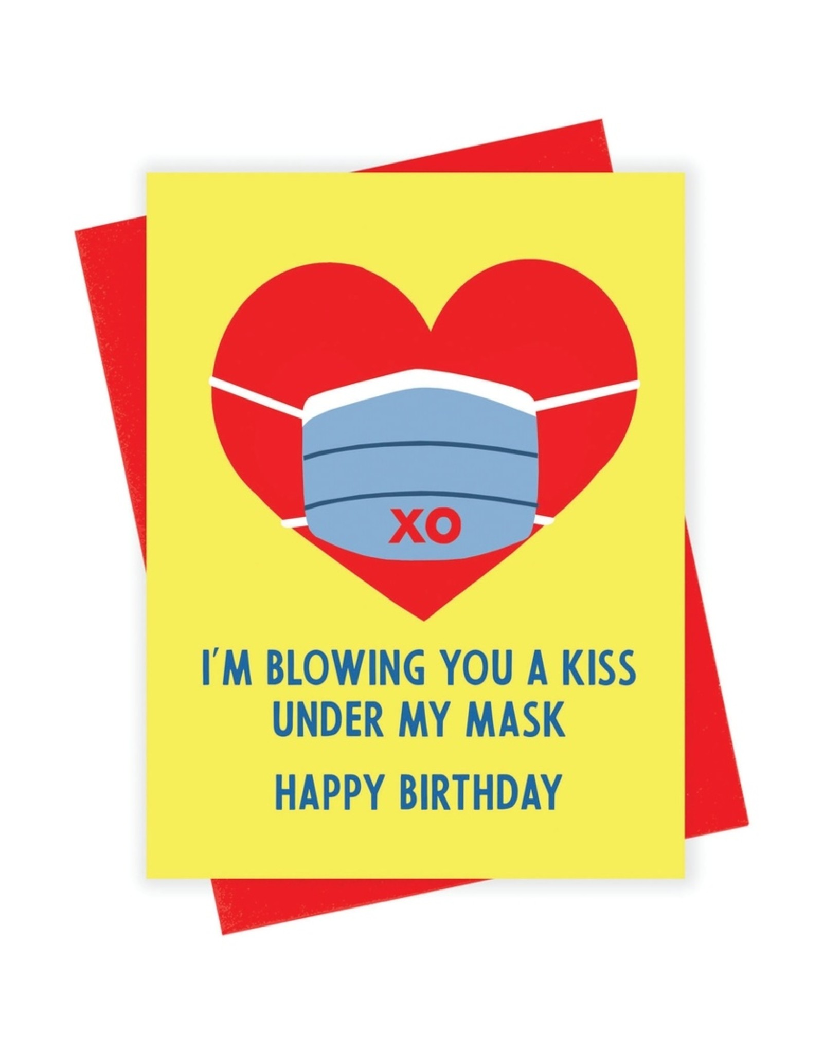 xou Card - Birthday: Mask kiss