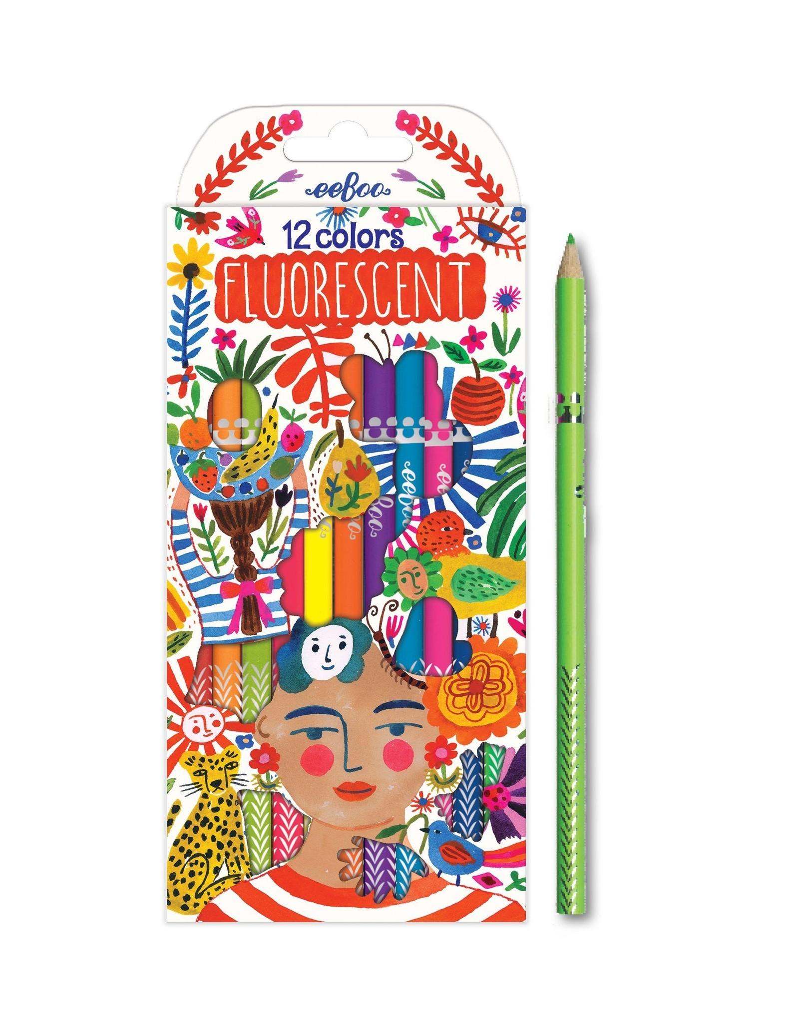 eeBoo Colored Pencils - Florescent Positivity