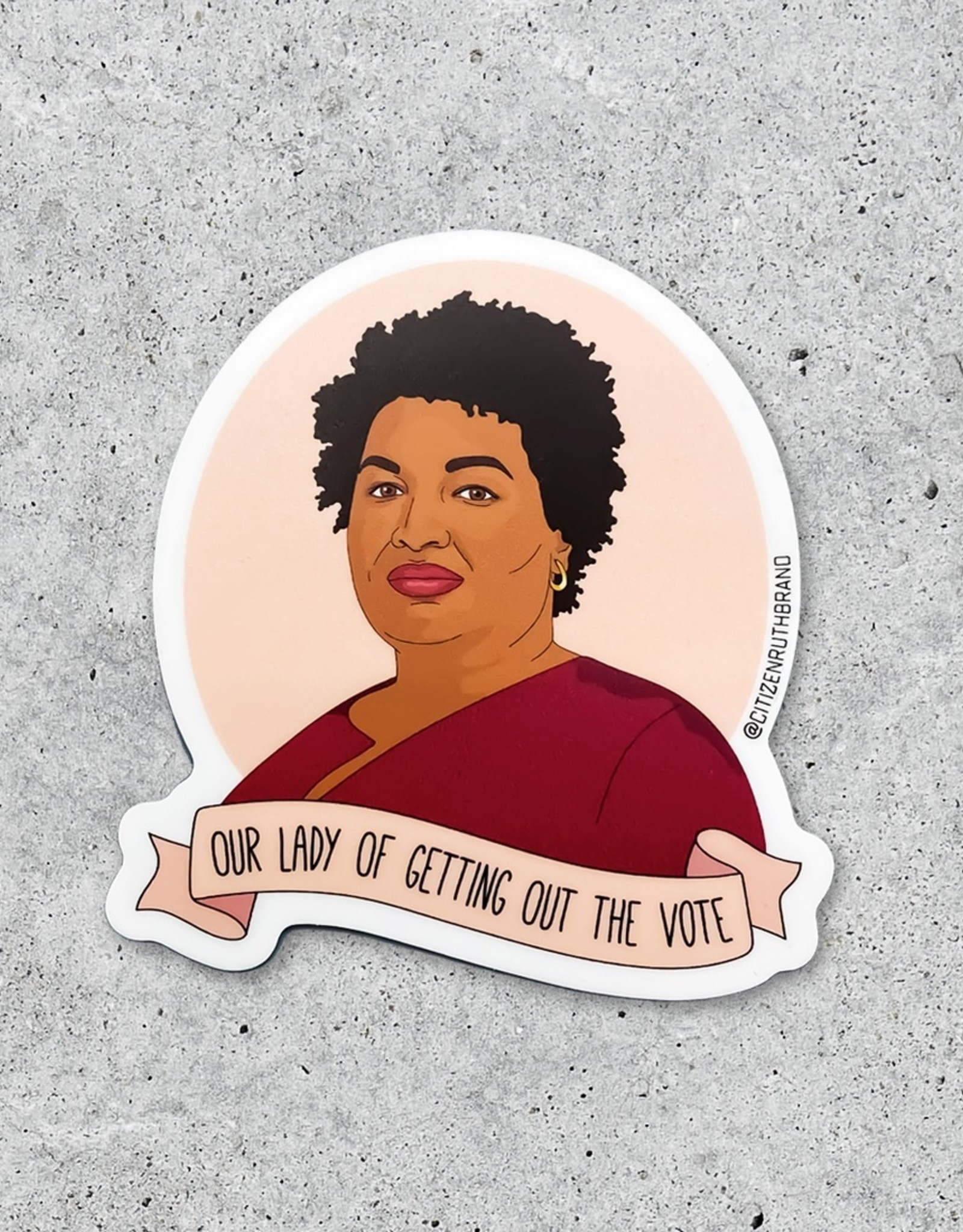 Citizen Ruth Sticker: Stacy Abrams voting