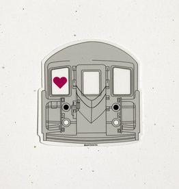 Quick Brown Fox Sticker - Subway