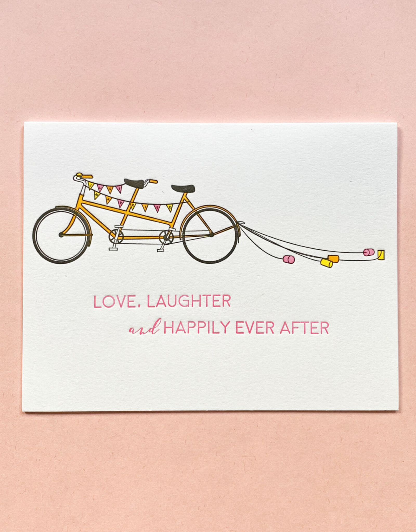 Quick Brown Fox Card - Wedding: Happily ever after bikes