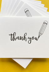 Quick Brown Fox Boxed Cards - Thank you pencil