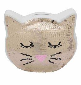 Streamline Sequin Cat Bank