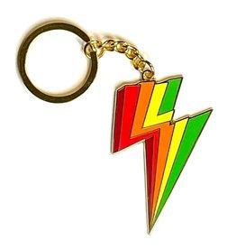 xou Keychain - Rainbow lightning