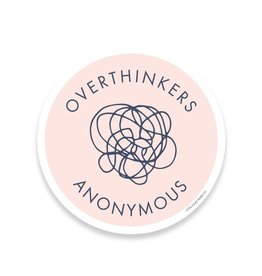 Little goat paper company Sticker: Overthinkers Anonymous
