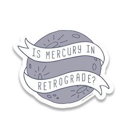 Little goat paper company Sticker: Is Mercury in Retrograde
