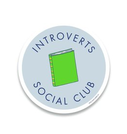 Little goat paper company Sticker: Introverts Social Club