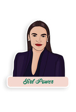 Party Mountain Paper Sticker: AOC Girl Power
