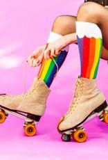 Gumball Poodle Socks: Rainbow Clouds Knee Socks
