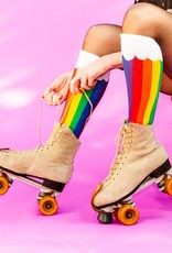 Gumball Poodle Socks: Rainbow Clouds