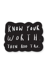 Old English Co. Enamel Pin : Know your worth