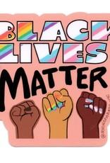 Rhino Parade Sticker - Black Lives Matter Fists